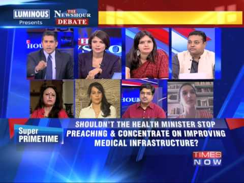 The Newshour Debate: NDA's morality minister Harsh Vardhan - Part 2 (27th June 2014)