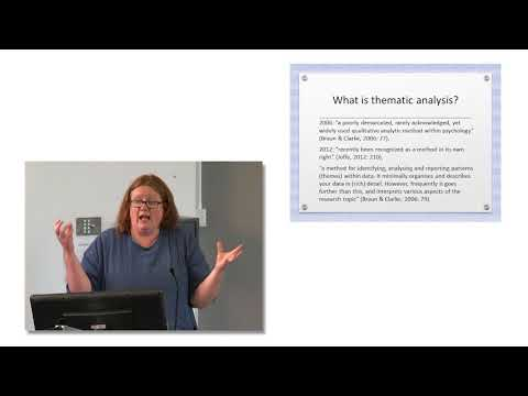 Thematic Analysis - An Introduction