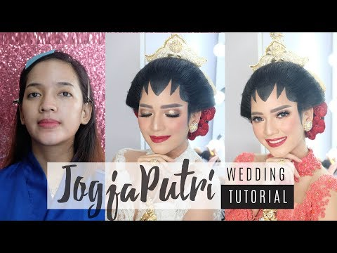 TUTORIAL PENGANTIN Jogja Putri // WEDDING MAKEUP TUTORIAL Puji Antari Makeup // BAHASA