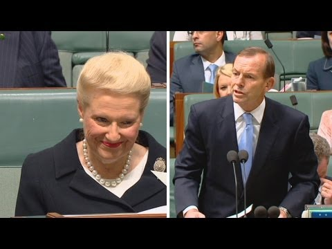 Labor MPs erupt in laughter as Abbott calls for Bishop to be Speaker