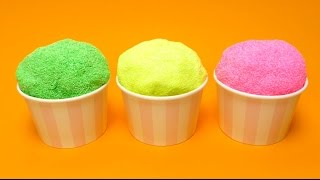 foam putty pearl clay floam with surprise egg toys in ice cream cups