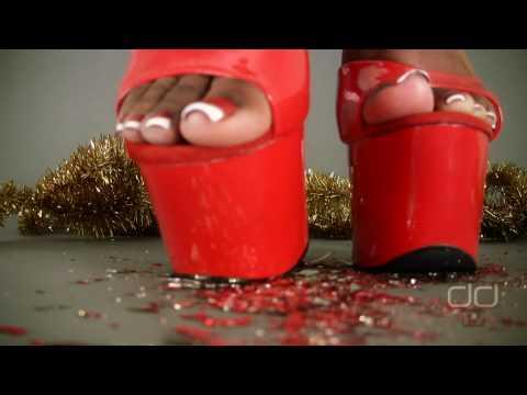 Darla TV - Foot Fetish Christmas: 7 Inch Platform Heels Crush Christmas Ornaments