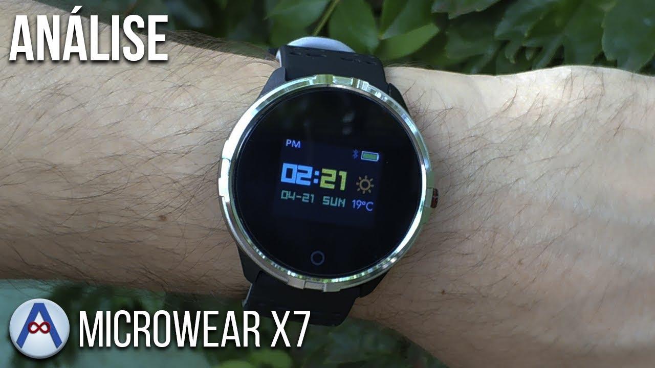 ANÁLISE - SMARTWATCH MICROWEAR X7