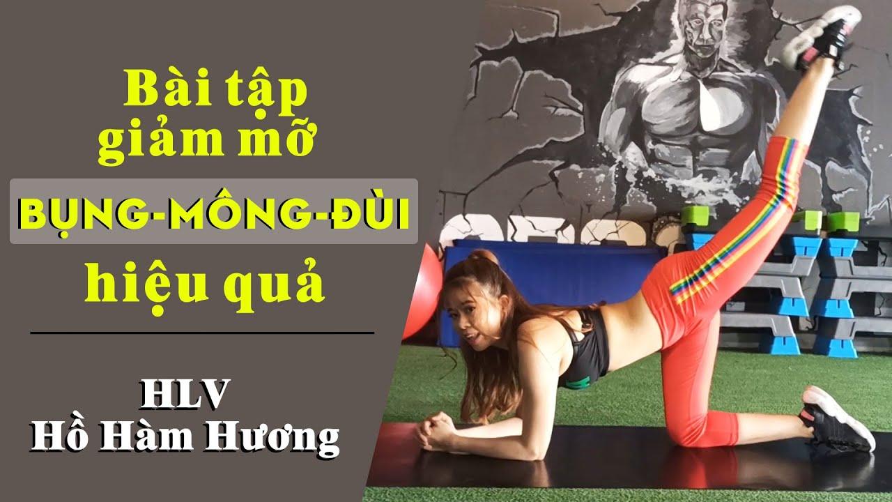 Bài tập giảm mỡ bụng mông đùi hiệu quả với thảm | Bài tập bụng mông đùi với thảm | HLV Hồ Hàm Hương