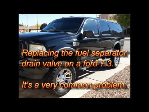 Ford 7.3 Leaking Water Separator Drain Valve - YouTube  Ford Fuel Filter Drain on ford 7.3 fuel line diagram, ford powerstroke, ford fuel filter replacement, ford fuel filter removal tool, 2002 ford f350 fuel filter, ford 7.3 fuel oil lines, ford 7.3 fuel system diagram, ford fuel filter wrench, 4596 fd fuel filter, ford 7.3 fuel tank screen, ford 7.3 fuel heater, ford 7.3 fuel pressure sensor, ford 7.3 fuel pressure test, 7.3l powerstroke fuel filter,