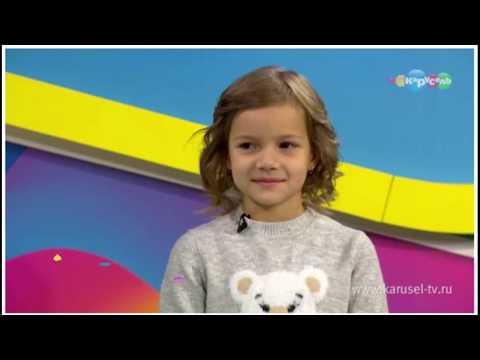 Настя Тюрина на канале Карусель в программе Навигатор