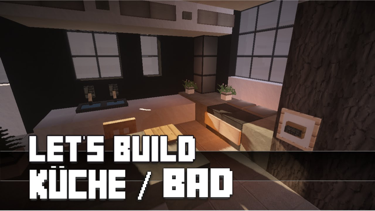 Minecraft m bel tutorial moderne k che bad bauen for Modern haus minecraft bauen