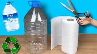 1 Plastik Şişe ve Havlu Peçete İle Yapılabilecek 2 Farklı Fikir | Geri Dönüşüm | Kendin Yap