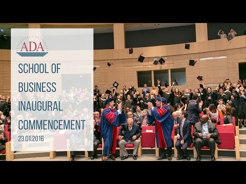 ADA School of Business Inaugural Commencement 2016