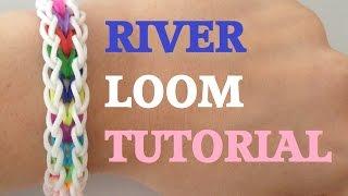 RIVER (Original Design) Rainbow Loom bracelet Tutorial l JasmineStarler