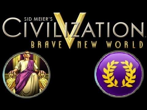 Civilization V Brave New World  Roman Walkthrough Part 100 Two Front War |