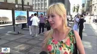 Интервью с прохожими на открытии фотовыставки в Москве 'Баку столица первых Европейских игр'