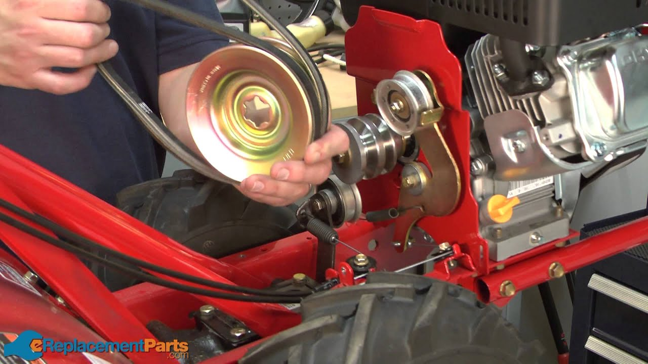 How to Replace the Transmission Pulley on a Troy Bilt