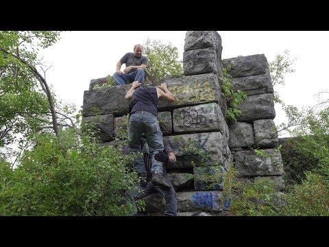 Climbing Fail at Split Rock Quarry