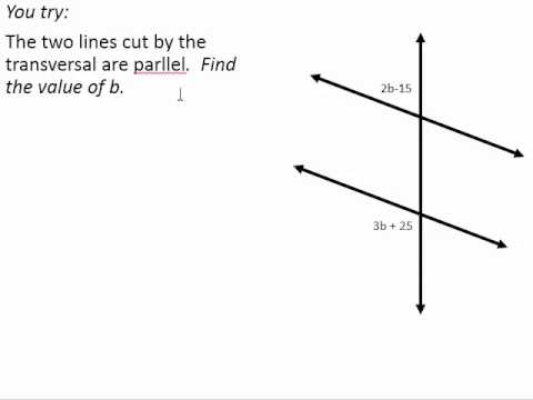 Solve Equations From Angle Relationships in Parallel Lines - YouTube