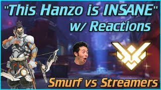 Undercover Smurf vs Overwatch Streamers w/ Reactions #1! Top 500 Hanzo Gameplay