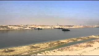 قناة السويس الجديدة : أزالة أخر جسر فى قناة السويس الجديدة 2يوليو 2015