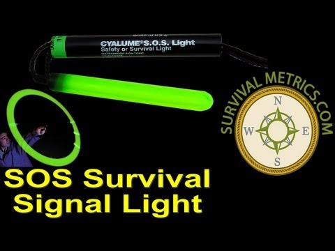 CYALUME SOS RESCUE LIGHT SURVIVAL SAFETY GLOW STICK USA MILITARY 2 STICKS