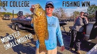 1st College Fishing WIN!! BIG Smallmouth Bass | TylersReelFishing
