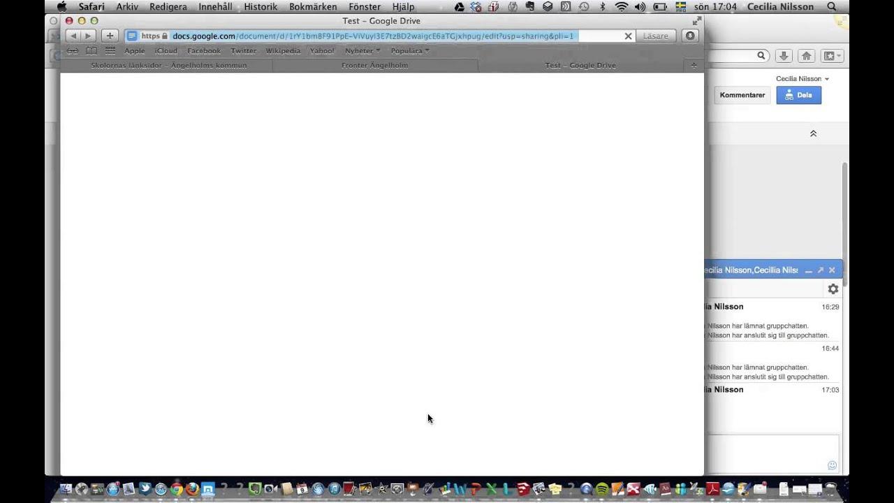 Samarbeta i dokument - YouTube : test fönster : Fönster