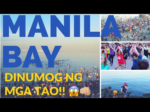 Vlog - MANILA BAY Dinumog ng Mga Tao!! (Rehabilitation Update February 2019)