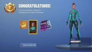 *UNLOCKING* 'SINGULARITY' Legend Skin After Collecting ALL 90 Fortnite Fortbytes (& Dance Showcase)