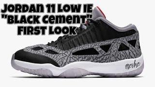 "Air jordan 11 low ie ""black cement ..."