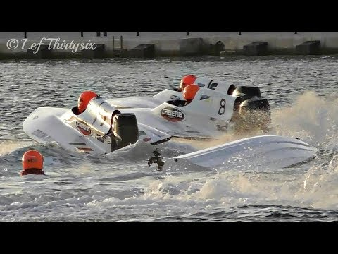 [HD] GT15 Partenza e bandiere rosse, Adriatic Cup - Brindisi Offshore 2017