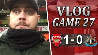ARSENAL 1 v 0 NEWCASTLE - NOT A GREAT PERFORMANCE BUT WE GOT THREE POINTS - MATCHDAY VLOG