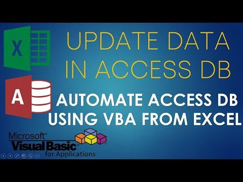 S02E04-Update Data In Access Database Using VBA