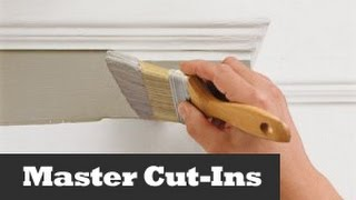 Perfect Ceiling Cut Ins.  Painting A Straight Line On A Wall.