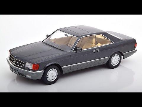 1:18 KK-scale mercedes 560 sec c126 1985 Silver