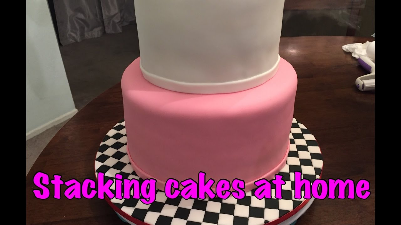 How to make a 2 tier cake with fondant