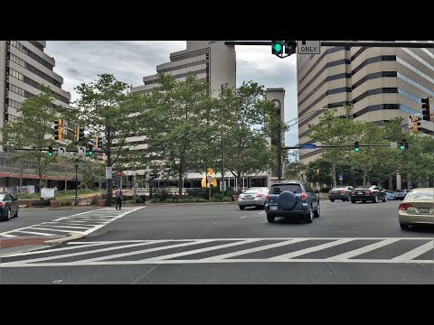 Driving Downtown - Bethesda Maryland USA