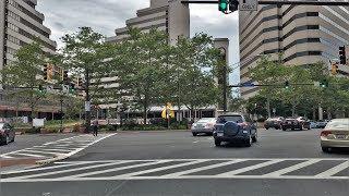 Driving Downtown - Bethesda 4K - Maryland USA