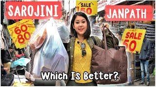 SAROJINI NAGAR Vs JANPATH: BEST Street Market In Delhi? SHOPPING BATTLE  ThatQuirkyMiss