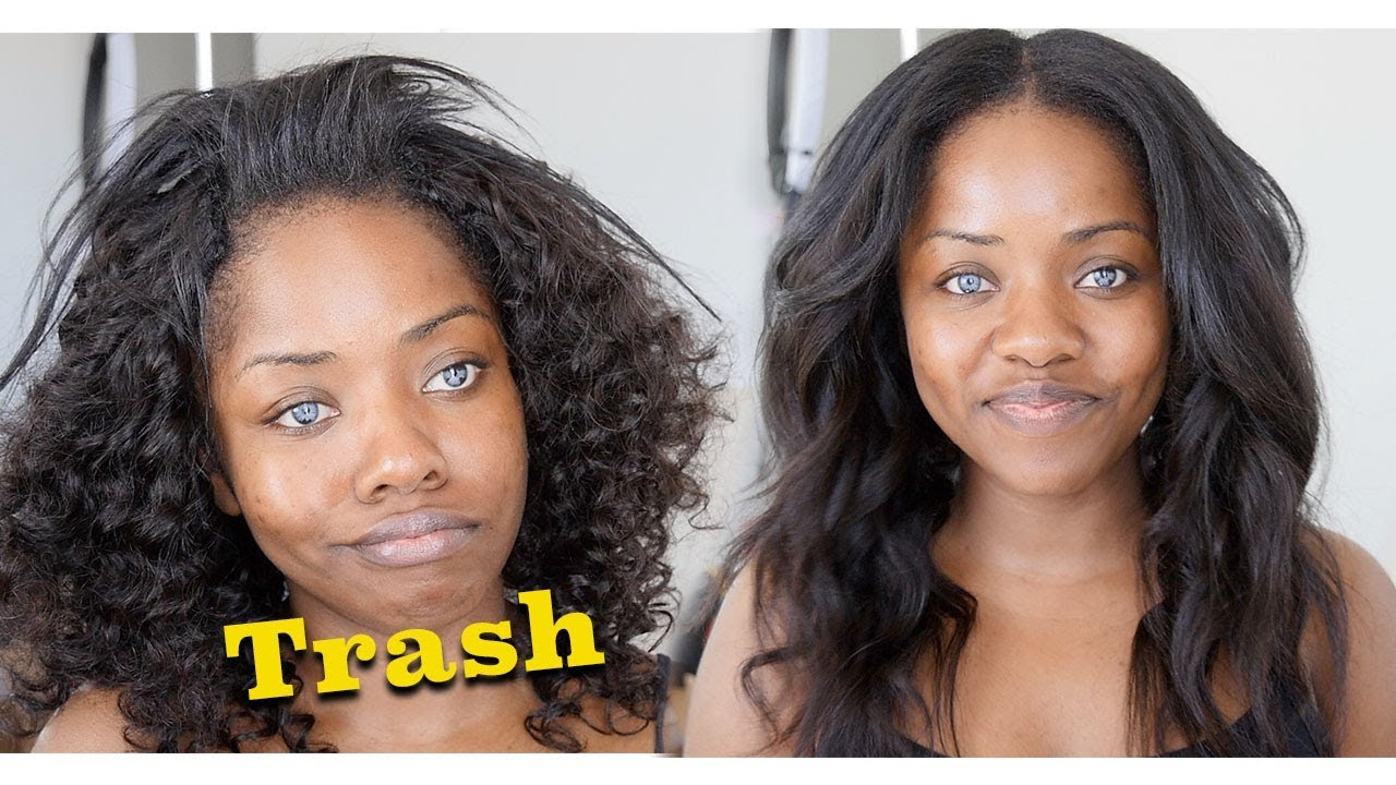 I Bought A Bad Weave Watch Me Transform My Hair From Trash