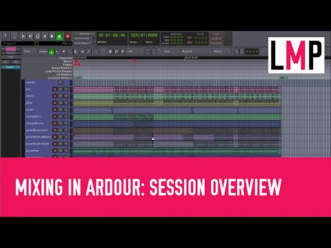 Basic mixing in Ardour 3: Part 2 - Importing files, arranging tracks and overviewing the session