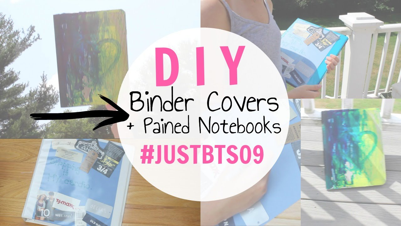 Diy Shopping Tag Binder Cover Painted Notebooks Bts