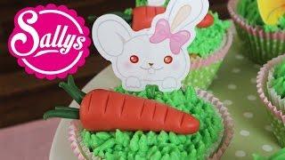 Frühlings Cupcakes mit Häschen-Dekoration