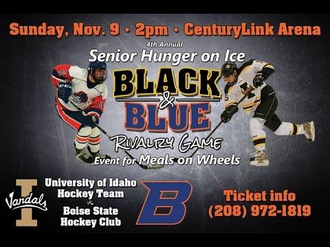 Black Blue Hockey Game Boise State Vs U Of I Youtube