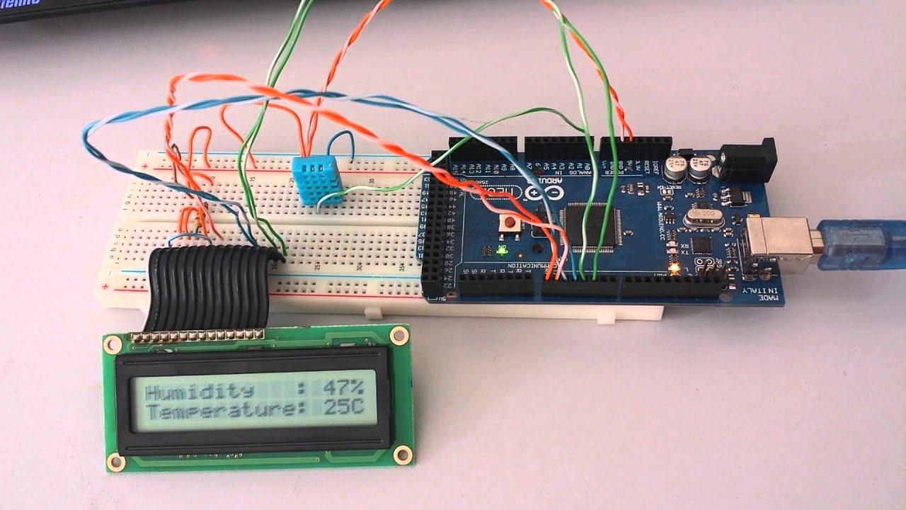 Arduino dht temperature humidity sensor youtube