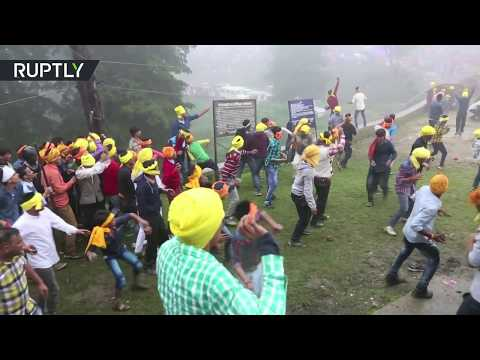 Festive fighting: Indian village celebrates traditional holiday with a good brawl