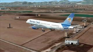 FSX Boeing 757 Thomas Cook Landing Palma De Mallorca