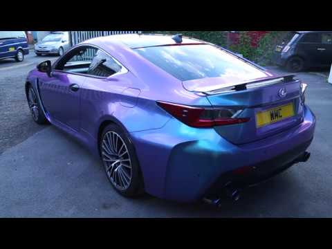 Blackpanthaa Lexus Rc F Wrapped In Turquoise Lavender