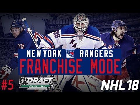 """New York Rangers Franchise #5   """"2018 Draft"""" (NHL 18 Franchise Mode)"""