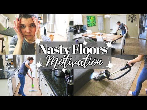 NASTY FLOOR CLEANING MOTIVATION // CLEANING MOM