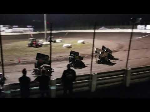 English Creek Speedway 250 Wing Kart Heat 2 08/06/18
