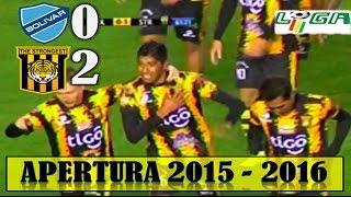 Bolivar 0 vs THE STRONGEST 2, Relato El Derribador, Apertura 2015 - 2016