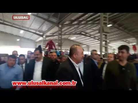 Pazarcıdan Dışişleri Bakanı Mevlüt Çavuşoğlu'na tepki